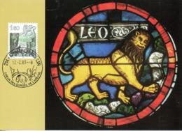 SUISSE. N°1172 Sur Carte Maximum De 1983. Lion. - Astrology
