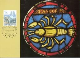 SUISSE. N°1171 Sur Carte Maximum De 1983. Cancer. - Astrology