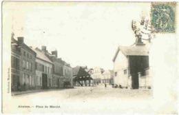 1905 AIRAINES  - Vue Peu Courante De La Place Du Marché - France
