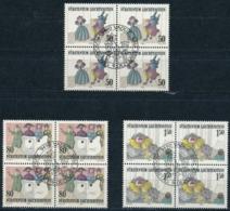 Zumstein 827-829 / Michel 887-889 Viererblockserie Mit ET-Zentrumstempel - Used Stamps