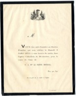 MONTAUBAN   PRIEZ POUR LUI S A MGE LE PRINCE IMPERIAL  5 JUILLET 1879  POUR ASSISTER AU SERVICE FUNEBRE - Devotion Images