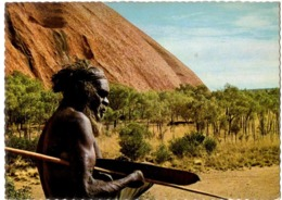 Ayers Rock Central Australia - A  Pitjandjara Aborigine Near Kundu Gorge - Aborigènes