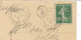 """1923- Rare Cachet Convoyeur De Ligne """" BISKRA A CONSTANTINE """" Sur Semeuse  Vers La BELGIQUE  Voir 3 Scans - Poststempel (Briefe)"""