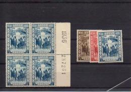 CONGO - COB 194/196 + BLOC 196 - XX - Cote 17.550 Euros - UN4 - 1923-44: Neufs