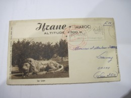 COURRIER ITRANE MAROC FRANCHISE MILITAIRE 1956  TBE - Marcophilie (Lettres)
