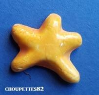 Fèves Fève Maurin étoile De Mer Jaune Plate Brillante*286* - Autres