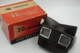 VIEW-MASTER Vintage : SAWYERS MODEL E BAKELITE Original Box - Made In Belgium - Reels - Viewmaster - Stereoviewer - Action Man