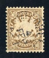 GS 1266 Bavaria 1878 Mi.#46 (o)  (cat. 35.€) - Bayern