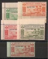 Nouvelles Hébrides - 1938 - Taxe TT N°Yv. 11 à 15 - Série Complète - Neuf  ** / MNH / Postfrisch - Leyenda Francesa