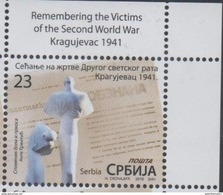 SERBIA, 2016, MNH, WWII, REMEBERING VICTIMS OF WWII, KRAGUJEVAC, 1v - WW2
