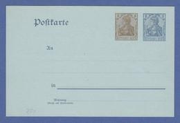 Seltene Germania-Ganzsache Postkarte Mi.-Nr. P70Y Ungebraucht, Top-Qualität !  - Allemagne