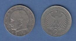 Bundesrepublik Kursmünze 2 Mark Max Planck 1964 D - Zonder Classificatie