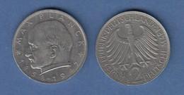 Bundesrepublik Kursmünze 2 Mark Max Planck 1963 G - Zonder Classificatie