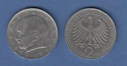 Bundesrepublik Kursmünze 2 Mark Max Planck 1964 J - Zonder Classificatie