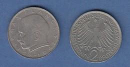 Bundesrepublik Kursmünze 2 Mark Max Planck 1965 F - Zonder Classificatie