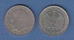 Bundesrepublik Kursmünze 2 Mark Max Planck 1964 F - Zonder Classificatie