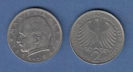 Bundesrepublik Kursmünze 2 Mark Max Planck 1966 G - Zonder Classificatie