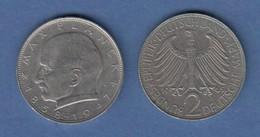 Bundesrepublik Kursmünze 2 Mark Max Planck 1965 J - Zonder Classificatie