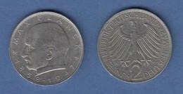 Bundesrepublik Kursmünze 2 Mark Max Planck 1966 J - Zonder Classificatie