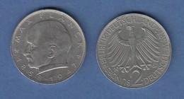 Bundesrepublik Kursmünze 2 Mark Max Planck 1967 J - Zonder Classificatie