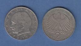 Bundesrepublik Kursmünze 2 Mark Max Planck 1967 D - Zonder Classificatie
