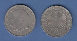Bundesrepublik Kursmünze 2 Mark Max Planck 1967 F - Zonder Classificatie