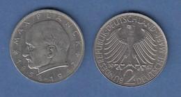 Bundesrepublik Kursmünze 2 Mark Max Planck 1967 G - Zonder Classificatie