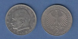 Bundesrepublik Kursmünze 2 Mark Max Planck 1968 G - Zonder Classificatie