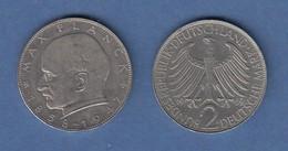 Bundesrepublik Kursmünze 2 Mark Max Planck 1969 D - Zonder Classificatie
