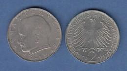 Bundesrepublik Kursmünze 2 Mark Max Planck 1970 F - Zonder Classificatie