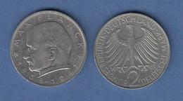 Bundesrepublik Kursmünze 2 Mark Max Planck 1969 G - Zonder Classificatie