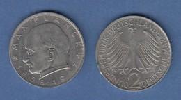Bundesrepublik Kursmünze 2 Mark Max Planck 1971 G - Zonder Classificatie