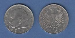 Bundesrepublik Kursmünze 2 Mark Max Planck 1971 J - Zonder Classificatie