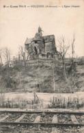 08 Vouziers Eglise Abside Ruines Guerre 19114 1918 Ardennes Voie De Chemin De Fer - Vouziers