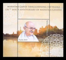 Uzbekistan 2019 Mih. 1385 (Bl.98) Mahatma Gandhi MNH ** - Uzbekistan