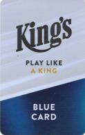 REPUBBLICA CECA KEY CASINO  King's   -     Rozvadov - Cartes De Casino