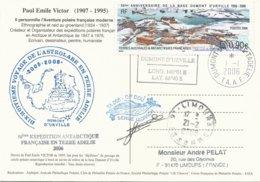 TAAF - Dumont D'Urville-T.Adélie: Carte Illustrée PE Victor Avec Timbre N°441 Base Dumont D'Urville - 01/01/2006 - Franse Zuidelijke En Antarctische Gebieden (TAAF)