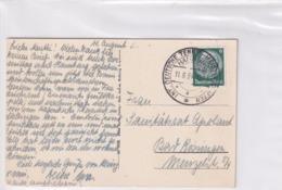 Germany 1934 Card: Tennis; German Open; International Tennis Tournament Hamburg; - Tennis