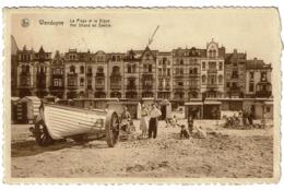 Wenduyne - La Plage Et La Digue / Het Strand En Zeedijk - Circulée En 1938 -  2 Scans - Wenduine