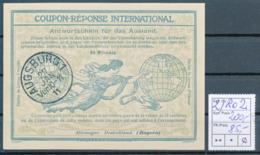 BAYERN / AUGSBURG 1  -  27 JAN 11  ,  Ro2  ,  25 Pfennig -  Reply Coupon Réponse , Antwortschein , IAS - Bavière