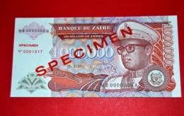 ZAIRE 1.000.000 / MILLION N. ZAIRES - 15-3-1993 SPECIMEN * UNC BANKNOTE - Zaire