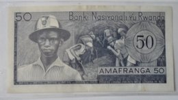 RWANDA 50 FRANCS 1969 - Rwanda