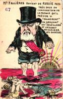 Frankreich, Politische Karikatur, Mr. Fallieres Revient De Russie...., Sign. Orens - Satirische