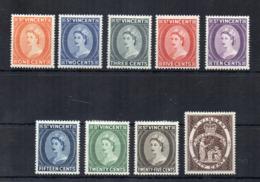 Gran Bretagna - (Vecchie Colonie E Protettorati - ST. VINCENT) - 1955 - 9 Valori - Nuovi - Linguellati * - (FDC17927) - St.Vincent (...-1979)