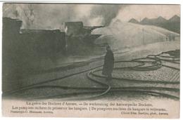 Grève Des Dockers Anvers - Les Pompiers Tâchent De Préserver Les Hangers - Uitg. Edm. Bastijns / G. Hermans -  2 Scans - Antwerpen