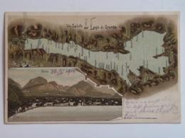 Trentino Lago Di Garda Gardasee 3112 Riva Litho  1903 Map Mapa - Other Cities