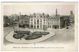 Hôtel Du Courrier Et Du Pas-de-Calais - Place De La Gare - Arras -  2 Scans - Arras