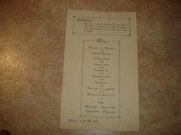 ANCIEN MENU - CHARLEROI 1926 - BANQUET 80EME ANNIVERSAIRE JOURNAL DE CHARLEROI - JUBILE GUSTAVE DES ESSARTS - Menus