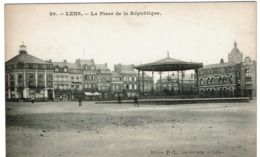 Lens - La Place De La République - Edit. P.-L. - 2 Scans - Lens