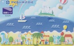 Carte Prépayée Japon - BATEAU Voilier & MONTGOLFIERE - Sailing SHIP & BALLOON - Japan Prepaid Tosho Card - SCHIFF - 169 - Schiffe
